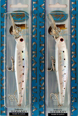 """Lucky Craft Pointer 100DD 5//8oz 4/"""" MS Pearl White SD"""