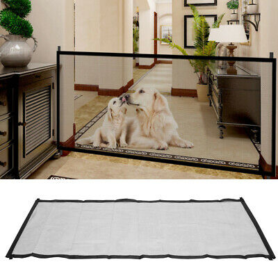 Large Safety Enclosure Dog Baby Gate Barrier Mesh Safe Pet Magic Guard&Install