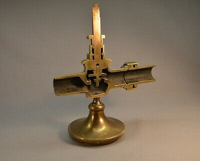Antique 19th c. Brass Plumbing Valve Cross Section Science Industrial Education