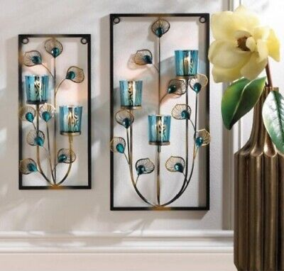 Candle Sconces Wall Decor Wrought Iron Metal Holder Mount