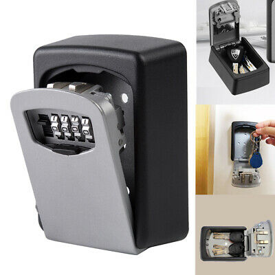 Wall Mounted Key Safe Box Combination Code Secure Lock Safety Outdoor Storage