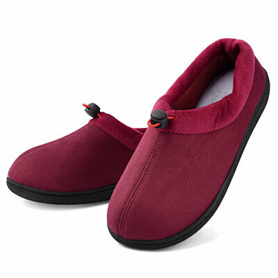 Women's Memory Foam Micro Suede Moccasin Slippers Adjustable House Shoes