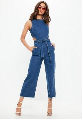 Missguided Denim Jumpsuit