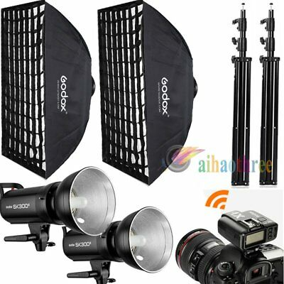 2Pcs Godox SK300II 300W 2.4G Wireless X System Flash Light Softbox Trigger【AU】