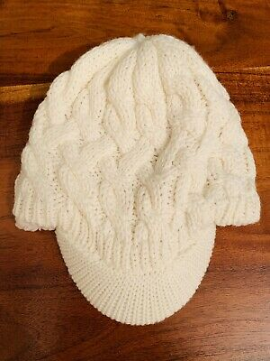 Worn Once Mantarey @ Debenhams Knitted & Fleece Lined Cream Hat One Size