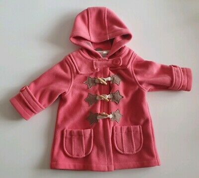 Girls Gorgeous Next Pink Duffle Coat. Age 9-12 Months