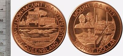 Australia: Mount ISA City, Queensland Tourist Dollar, 45mm diameter
