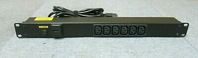 Lindy 4450115 6 Port Power Distribution Bar C14 Inlet And 6 x C13 Outlets PDU