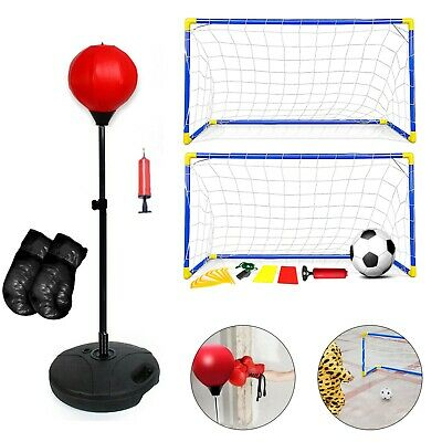 Christmas Gift Ideas Kids Sport--Soccer 2Pc Goal Set/Punch Bag/Basketball Hoop