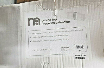 Black mothercare curved fireguard extension
