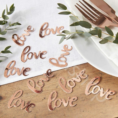 Rose Gold Love Table Confetti Scatter Wedding Engagement Party Table Decoration