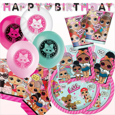 Lol Surprise Party Set Girls Birthday Party Pack Decoration Tableware Supplies