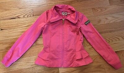 Juicy Couture  Peplum Girls Kids Children Light Coat Jacket Pink. Lined. Size 10