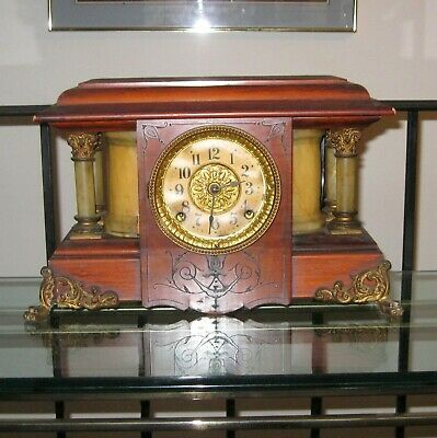 Antique Seth Thomas 8 Day Chime and Strike Mantle Clock Parts Repair