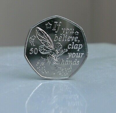 .2019 Tinkerbell Uncirculated 50p coin, from the Peter Pan Collection  IOM