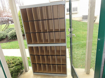 "Vertical Mail Box Office Divider Sorter 42 Slots ~71""x38"" x13"" Gray Local PickUp"
