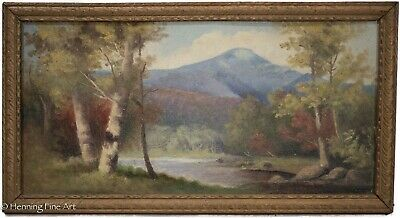 Antique American Landscape Painting 19th Century East Coast by C.E. Corliss 1/3