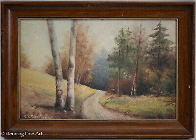 Antique American Landscape Painting 19th Century East Coast by C.E. Corliss 2/3