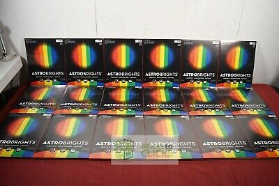"Astrobrights Colored Cardstock, 8.5"" x 11"", 65lb Assortment, 50 Sheets Qty of 18"