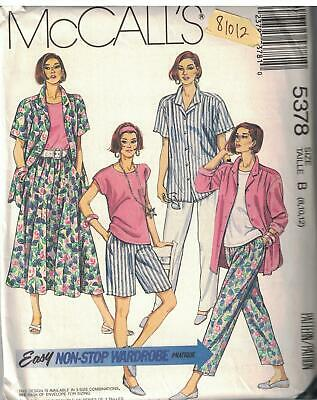 4682 UNCUT Vintage Butterick SEWING Pattern Misses Skirt Pants Jacket OOP FF SEW
