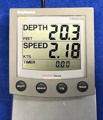REPEATER Raytheon Raymarine ST60 Tridata REPEATER Depth Speed Display REPEATER