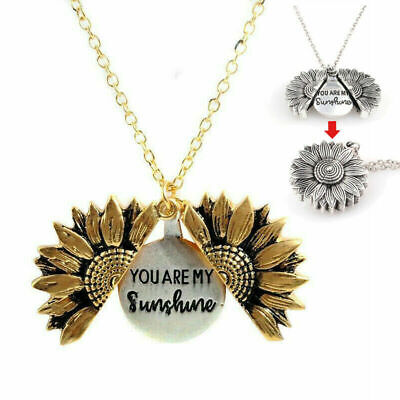 "My UK ""Open Are ""You Necklace Sunshine Sunflower Women's AN Pendant Gifts Locket"