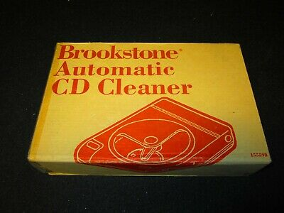 Brookstone - AUTOMATIC CD CLEANER - 155598 - Sealed - New In Box