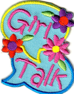"Sayings /""GIRLS MAKE THINGS HAPPEN!/"" Iron On Embroidered Patch //Girly Things"