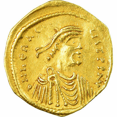 [#657354] Coin, Heraclius, Tremissis, 610-641, Constantinople, AU(55-58), Gold