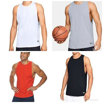 NWT Men's Under Armour Baseline Cotton Basketball Tank Top