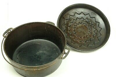 VTG Antique Wagner Ware No. 9 Drip Drop Cast Iron Roaster Dutch Oven - 1269