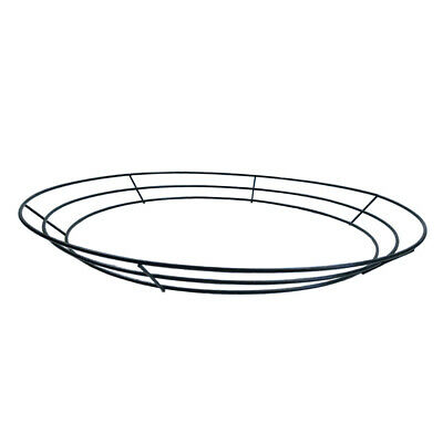 Solid Metal Flat Wreath Form Frame Ring, Floristry Craft Supplies, 16''/40cm