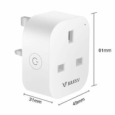 Smart Plug, WiFi Socket Mini Outlet, Timer, Remote Control, Energy Monitoring 2p
