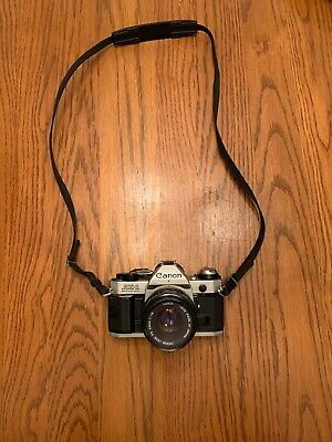 Canon AE-1 Program 35mm Film Manual Camera w/ 50mm F1.8 Lens Made In Japan