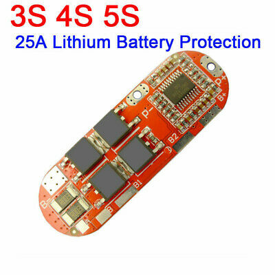 25A 3S/4S/5S Li-ion Lithium Battery BMS PCB Protection Board Balance