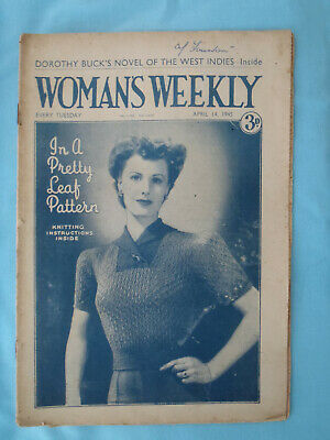 Vintage 1945 Woman's Weekly,  14th April