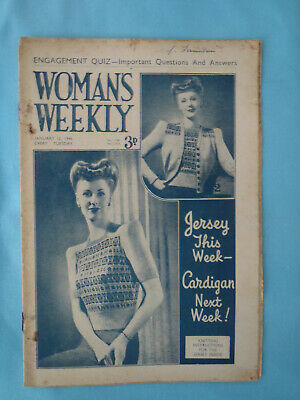 Vintage 1946 Woman's Weekly,  12th January