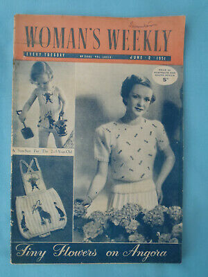 Vintage 1951 Woman's Weekly,  2nd June