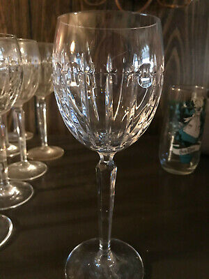 Belgian Crystal Wine Glasses. Set Of 4. Perfect Condition