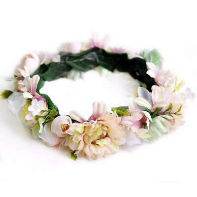 Boho Flower Floral Hair Garland Crown Headband Wreath Headpiece Handmade SFHS16