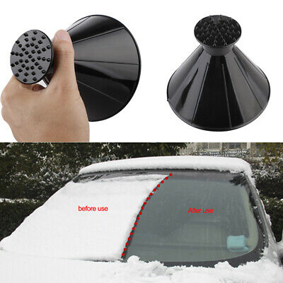 Car Window Windshield Ice Scraper Shaped Funnel Snow Remover Deicer Deicing Tool