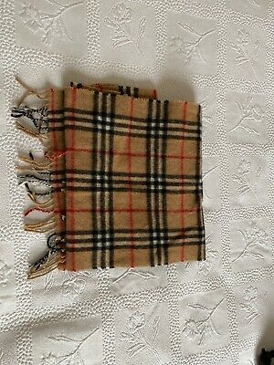 Men's Burberry Check Cashmere Wool Scarf