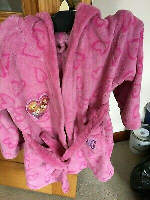 Girls Disney Princess hooded dressing gown age 5-6