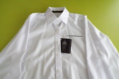 VARIOUS SIZES AVAILABLE CATERHAM F1 TEAM ISSUE EXECUTIVE LONGSLEEVE SHIRT MENS