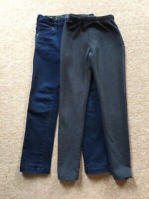 Girls jeans and joggers tracksuit bottoms age 6-7 years