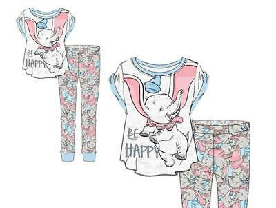 Ladies Girls Dumbo Pyjamas Set Pjs Disney Sleepwear