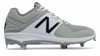 New Balance Low-Cut 3000v3 Metal Baseball Cleat Mens Shoes Grey with White Size