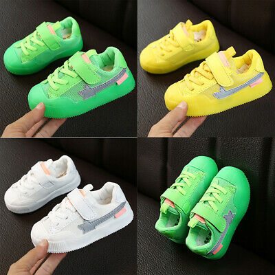 Baby Toddler Infant Kids Boys Girls Outdoor Walk Sports Running Breathable Shoes