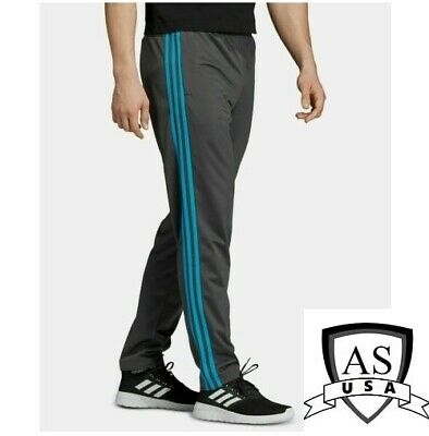 Adidas Essentials 3-Stripes Tapered Tricot Pants Grey/Blue EB3994 Size Large NEW