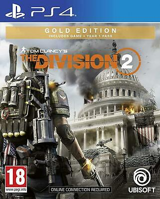 Tom Clancy's The Division 2 Gold Edition (PS4) Game Factory Sealed